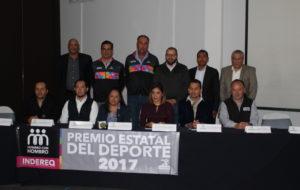 DAN A CONOCER GANADORES DEL PREMIO ESTATAL DEL DEPORTE 2017.