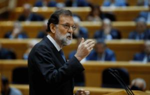 RAJOY CONVOCA A SU GABINETE PARA RESTAURAR LA LEGALIDAD CONSTITUCIONAL EN CATALUÑA