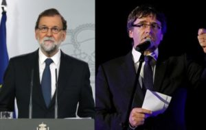 GOBIERNO ESPAÑOL PRESIONA A PUIGDEMONT PARA ACLARAR POSICIÓN DE CATALUÑA