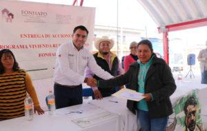 APOYA SEDATU CON BONOS DE VIVIENDA A FAMILIAS DE 7 MUNICIPIOS