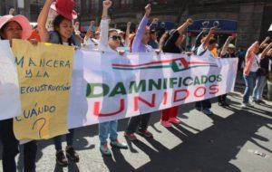 """""""Damnificados Unidos de la Ciudad de México"""", exigió a los gobiernos Federal y de la Capital"""