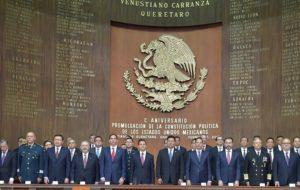 MÉXICO CONMEMORA 101 AÑOS DE LA PROMULGACIÓN DE LA CONSTITUCIÓN POLÍTICA.