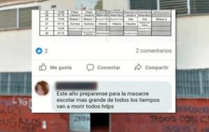 JOVEN ARGENTINO AMENAZA CON COMETER UNA MASACRE EN SU ESCUELA.